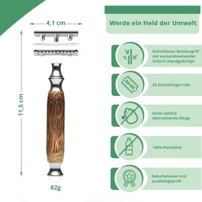 Premium Bambus Rasierhobel Herren & Frauen