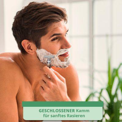 Geschlossener Kamm Für sanftes Rasieren